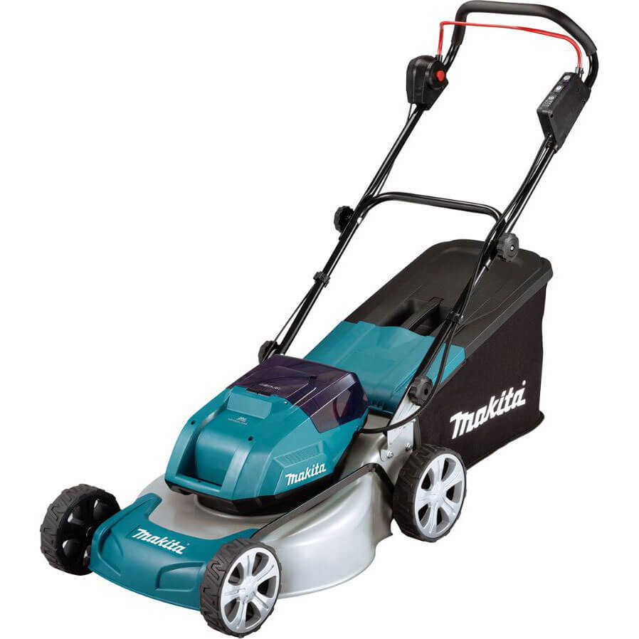 Makita DLM460 Twin 18v LXT Cordless Brushless Rotary Lawn Mower 460mm No Batteries No Charger