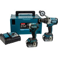 Makita DLX2176 18v Cordless LXT Brushless Combi Drill and Impact Driver Kit