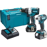 Makita DLX2214TJ 18v LXT Cordless Combi Drill and Impact Driver Kit