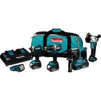 Makita DLX5042PT 18v Cordless LXT Brushless 5 Piece Set