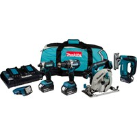 Makita DLX5043PT 18v Cordless LXT Brushless 5 Piece Set