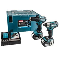 Makita DLX2221J 18v LXT Cordless Compact Brushless Combi Drill and Impact Driver Kit