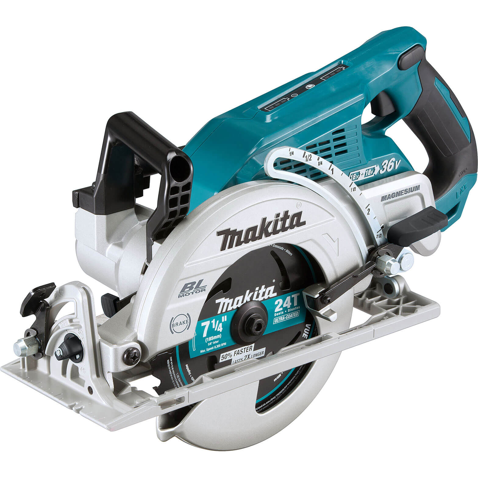 Image of Makita DRS780 Twin 18v LXT Cordless Brushless Circular Saw 185mm No Batteries No Charger No Case