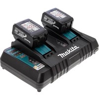 Makita 18v Twin Charger and 2 Li-ion Batteries 3 Amp