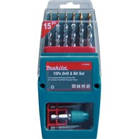Makita 15 Piece Drill and Screwdriver Bit Set