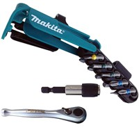 "Makita 12 Piece 1/4"" Ratchet Driver & Screwdriver Bit Set"
