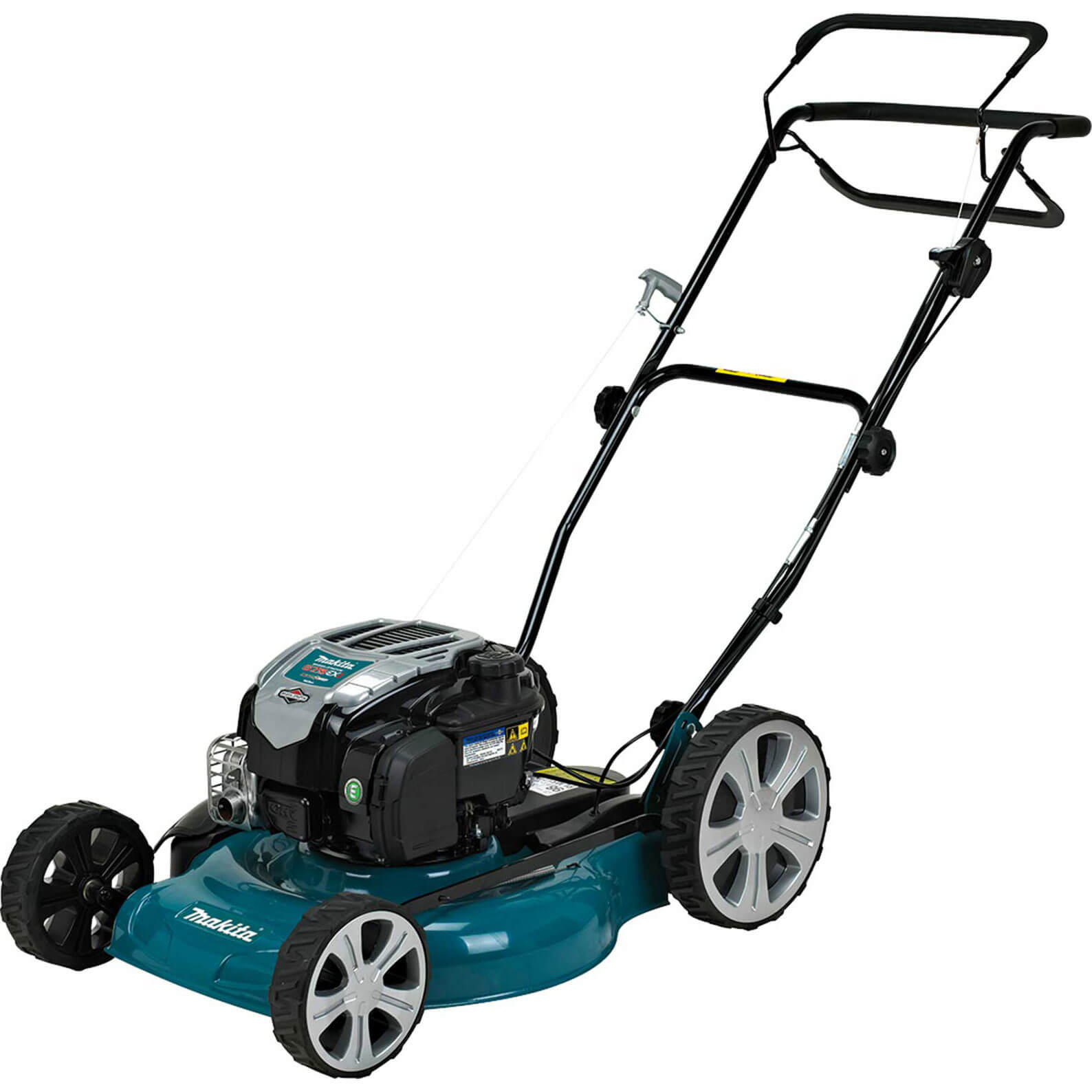 Image of Makita PLM5121N2 Mulching Petrol Rotary Lawnmower 560mm