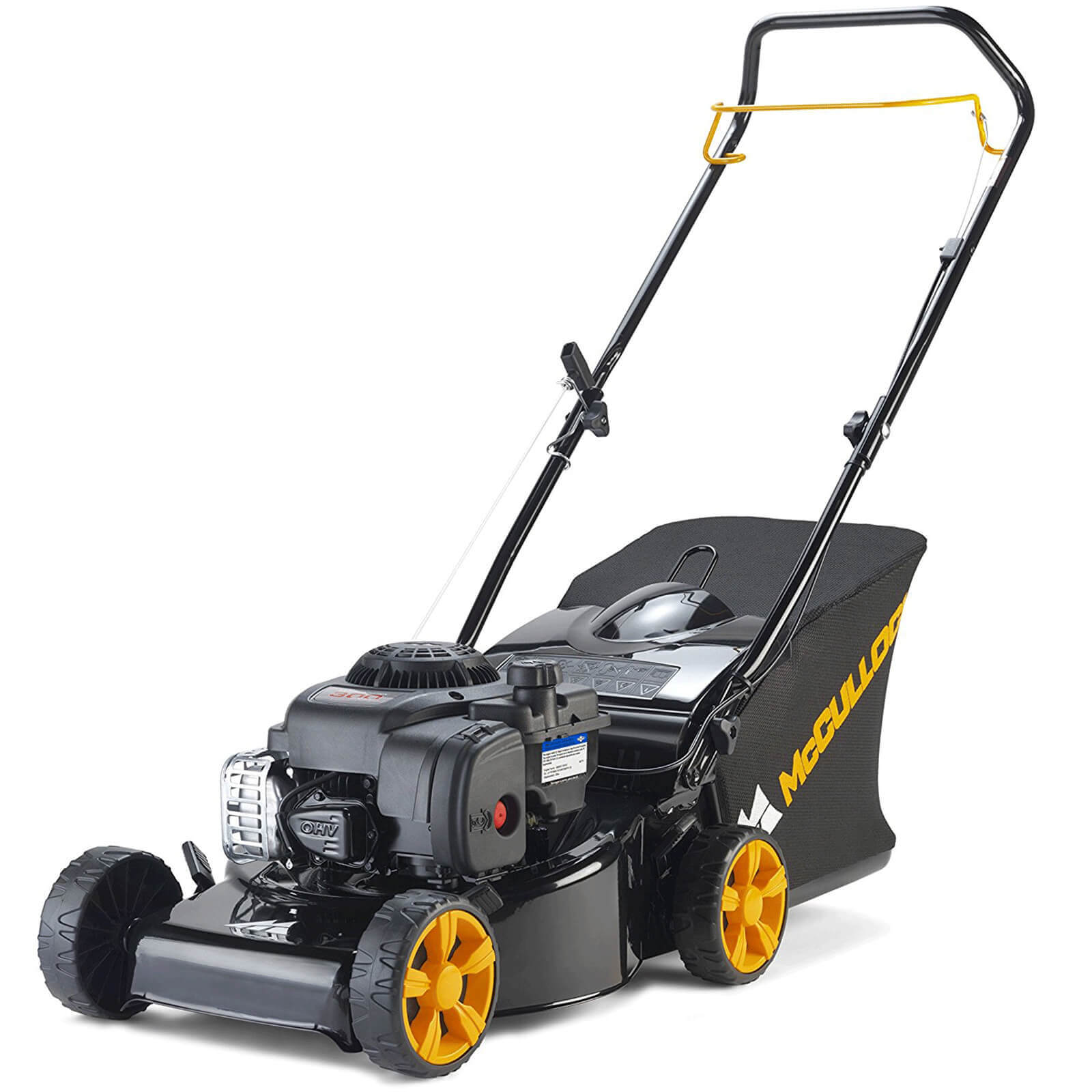Image of McCulloch M40-125 CLASSIC PLUS Push Petrol Rotary Lawnmower 400mm