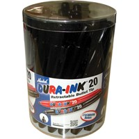 Markal Dura Ink 20 Retractable Fine Bullet Tip Permanent Marker Pen