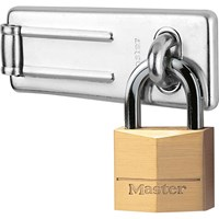 Masterlock Solid Brass Padlock and Steel Hasp