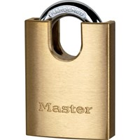 Masterlock Solid Brass Padlock and Closed Shackle
