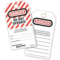 Master Lock Lockout Tags - Danger Do Not Operate