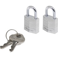 Masterlock Aluminium Padlock Pack of 2 Keyed Alike