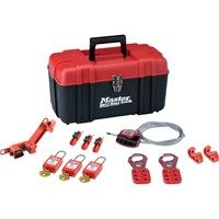 MasterLock 12 Piece Electrical Lockout Tool Box Kit