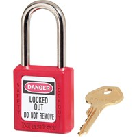 MasterLock Red Lockout Padlock