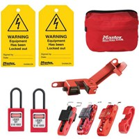 Masterlock 10 Piece Electrical Lockout and Tagout Kit