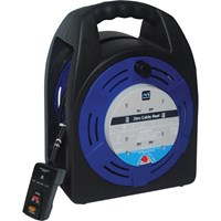 Masterplug 4 Socket Cable Extension Reel RCD