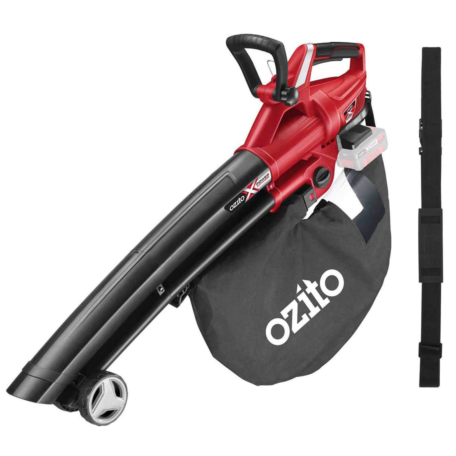 Ozito PXCBLVS 36v Cordless Brushless Garden Vacuum and Leaf Blower (Uses 2 x 18v) No Batteries No Charger