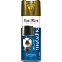 Plastikote Brilliant Metallic Aerosol Spray Paint