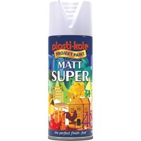 Plastikote Super Matt Aerosol Spray Paint