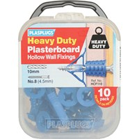 Plasplugs Heavy Duty Plasterboard Hollow Wall Fixings