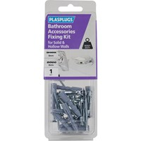 Plasplugs Bathroom Accessories Fixing Kit for Solid and Hollow Walls