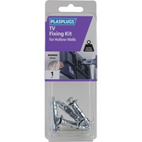 Plasplugs TV Fixing Kit for Solid Walls