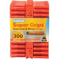 Plasplugs Regular Duty Super Grips Concrete and Brick Fixings