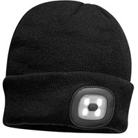 Beanie Hat With Rechargeable Twin LED Head Light