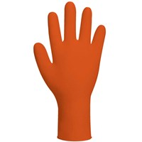 Polyco Finite Orange Nitrile Disposable Gloves