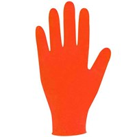 Polyco Body Guards Orange Nitrile Disposable Gloves