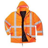 RWS Hi Vis Traffic Jacket and Detachable Lining