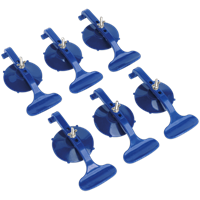 Sealey RE006 6 Piece Suction Clamp Set