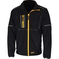 Roughneck Mens Wind Blocker Fleece Jacket with Reflective Piping