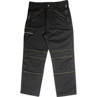 Roughneck Mens Multi Zip Trousers