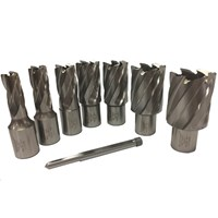 Rotabroach 7 Piece Raptor Mag Drill Hole Cutter Set and Pilot