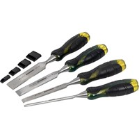 Roughneck 4 Piece Professional Bevel Edge Wood Chisel Set