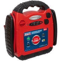 Sealey RS132 RoadStart Emergency Jump Starter, Power Pack & Compressor Pump
