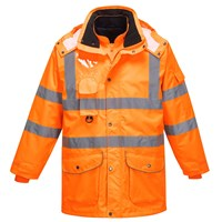 Oxford Weave 300D Class 3 Hi Vis GO/RT 7-in-1 Traffic Jacket