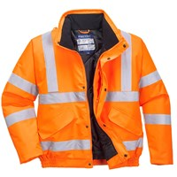 Oxford Weave 300D Class 3 GO/RT Hi Vis Bomber Jacket