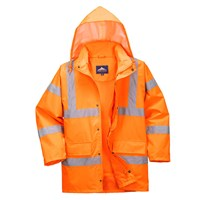 Oxford Weave 300D Class 3 Breathable Hi Vis Jacket