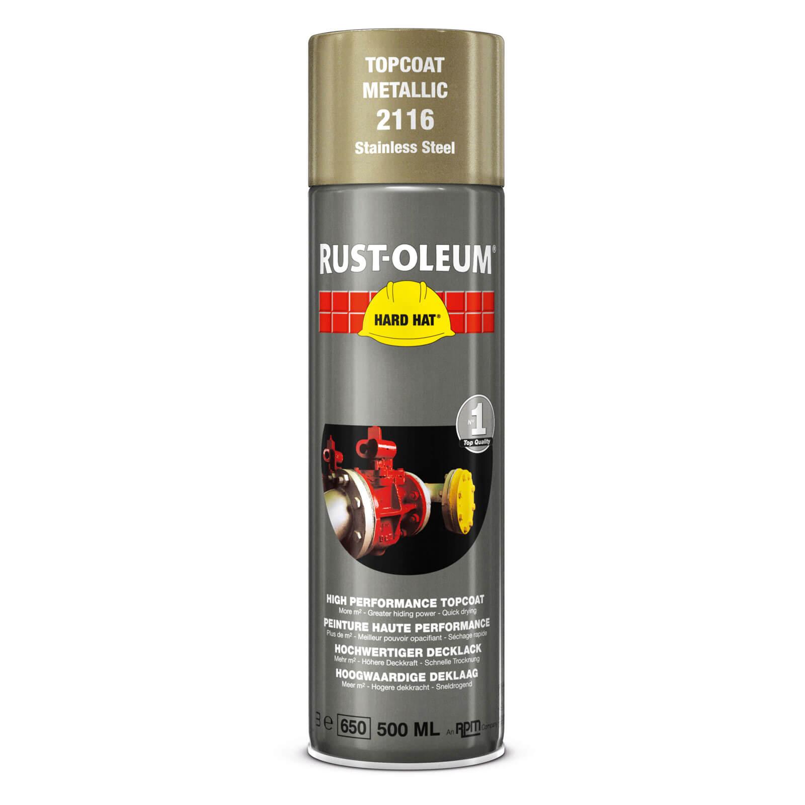 Rust Oleum Hard Hat Stainless Steel Spray Paint Stainless Steel 500ml