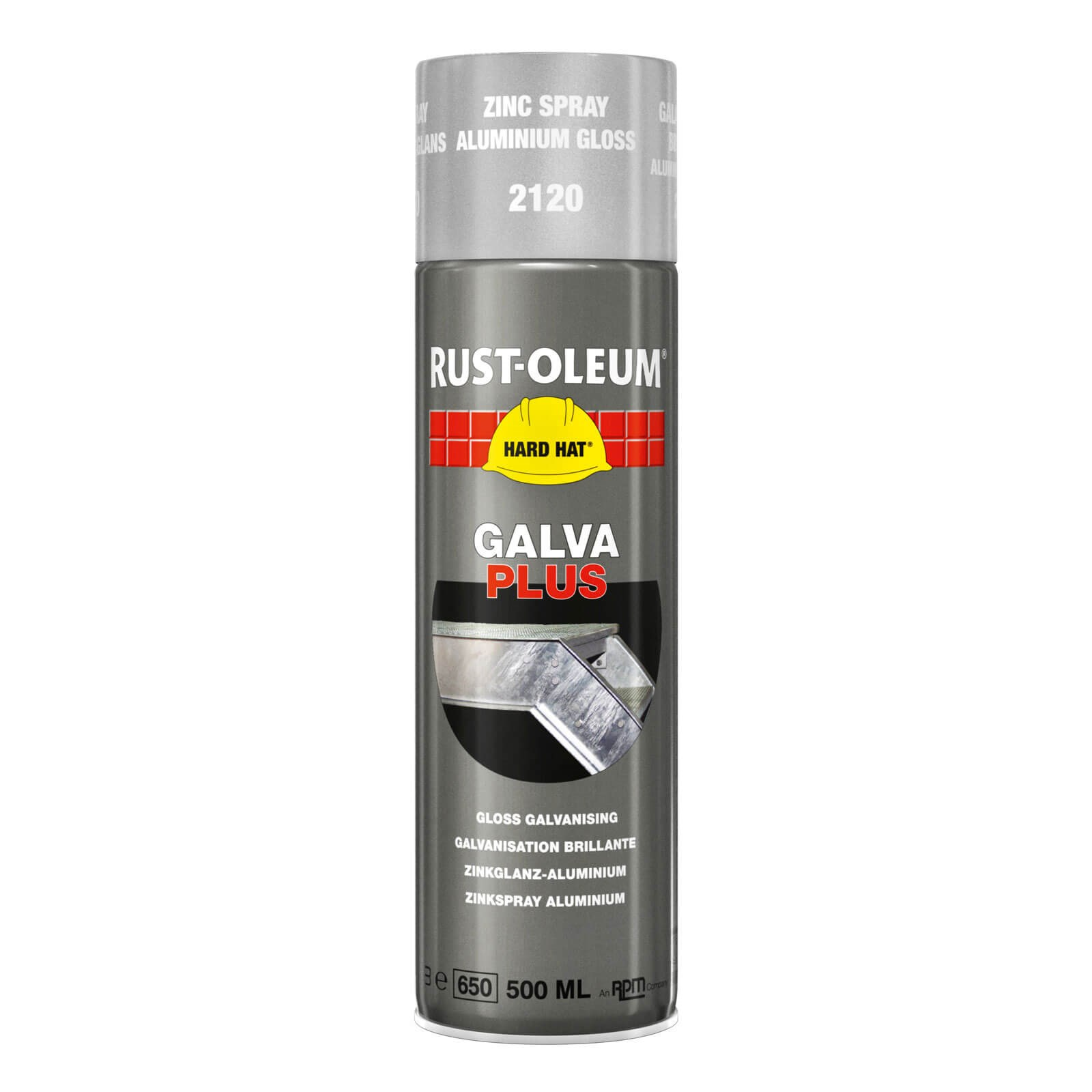 Rust Oleum Hard Hat Galva Plus Metal Spray Paint