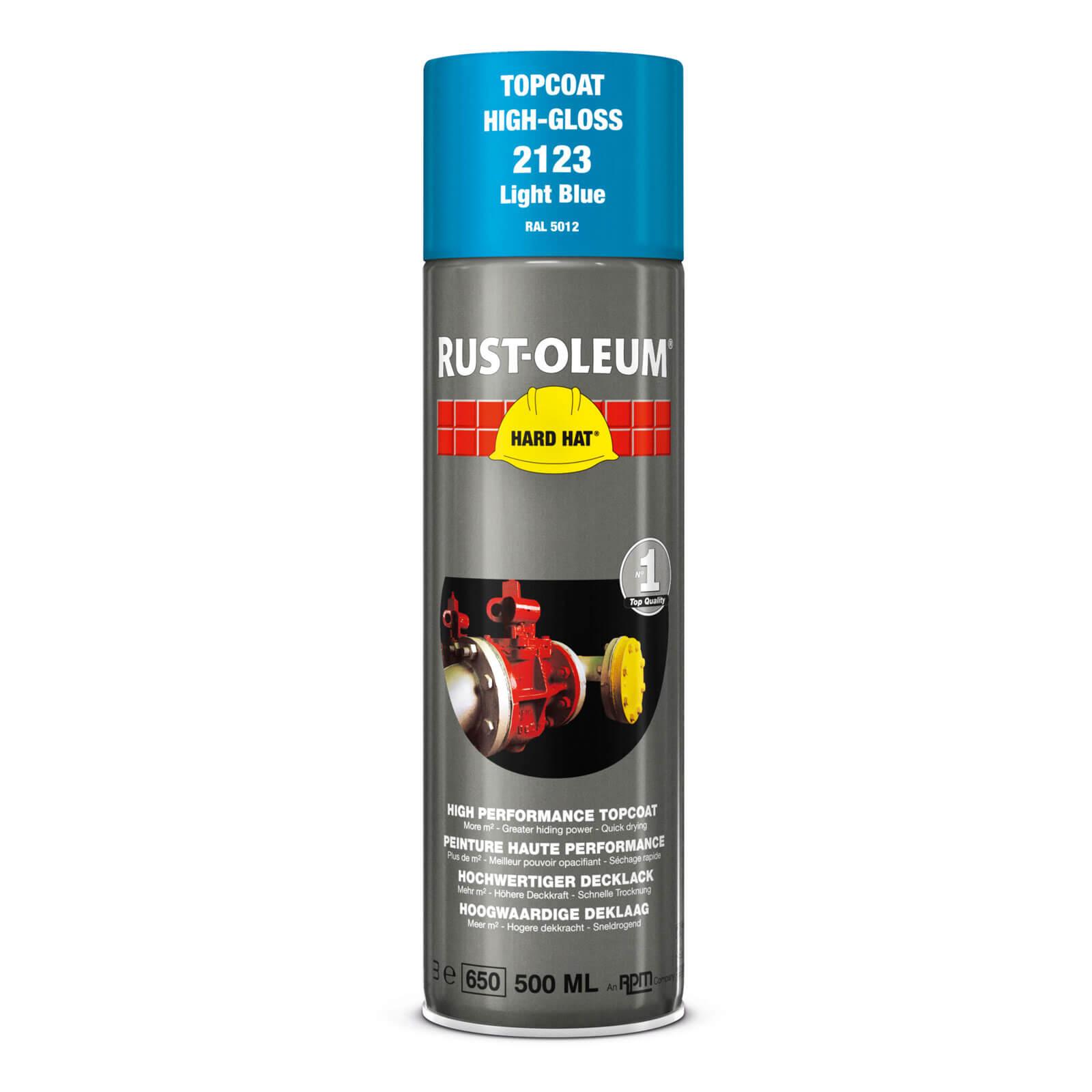 Rust Oleum Hard Hat Metal Spray Paint Light Blue 500ml