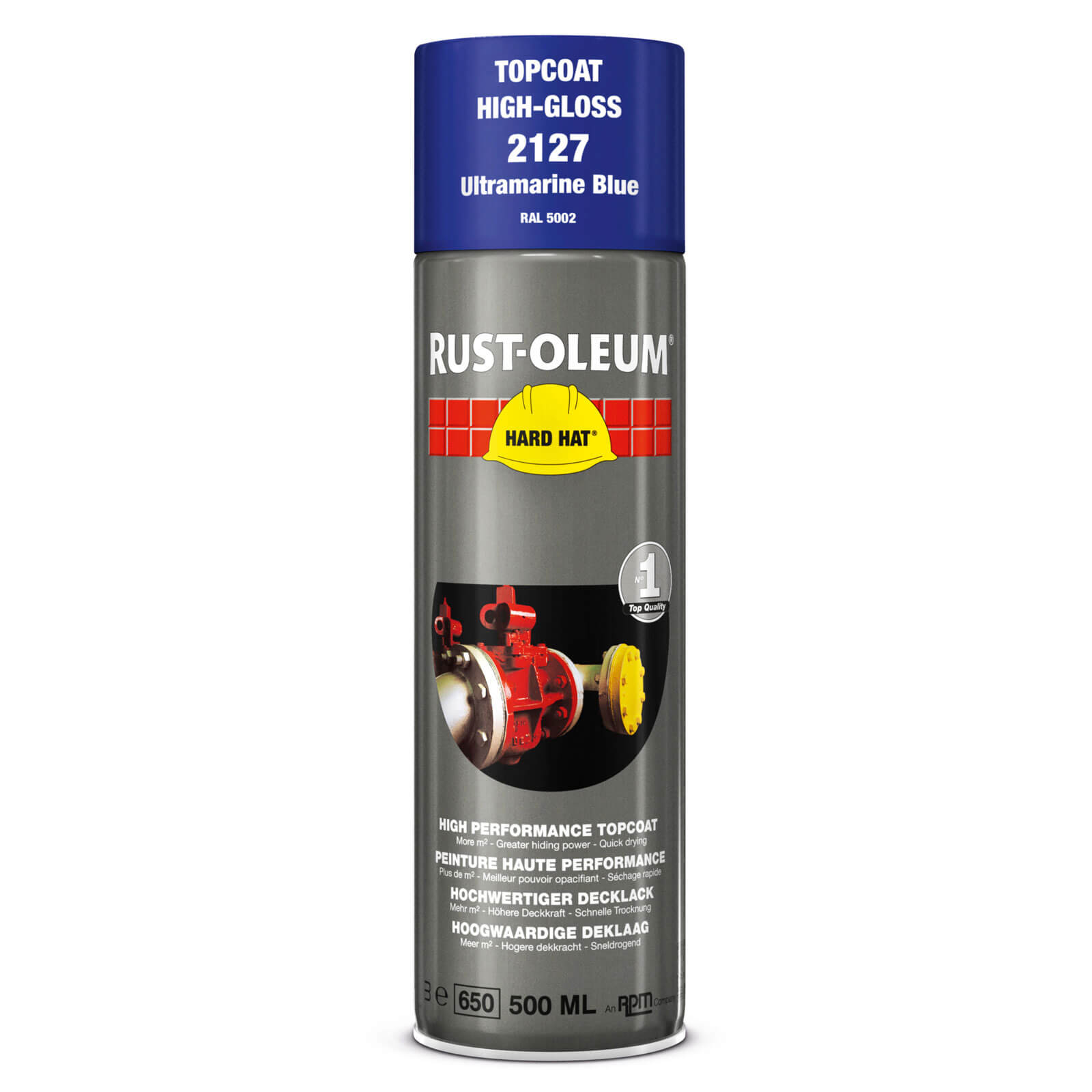 Rust Oleum Hard Hat Metal Spray Paint Ultramarine Blue 500ml