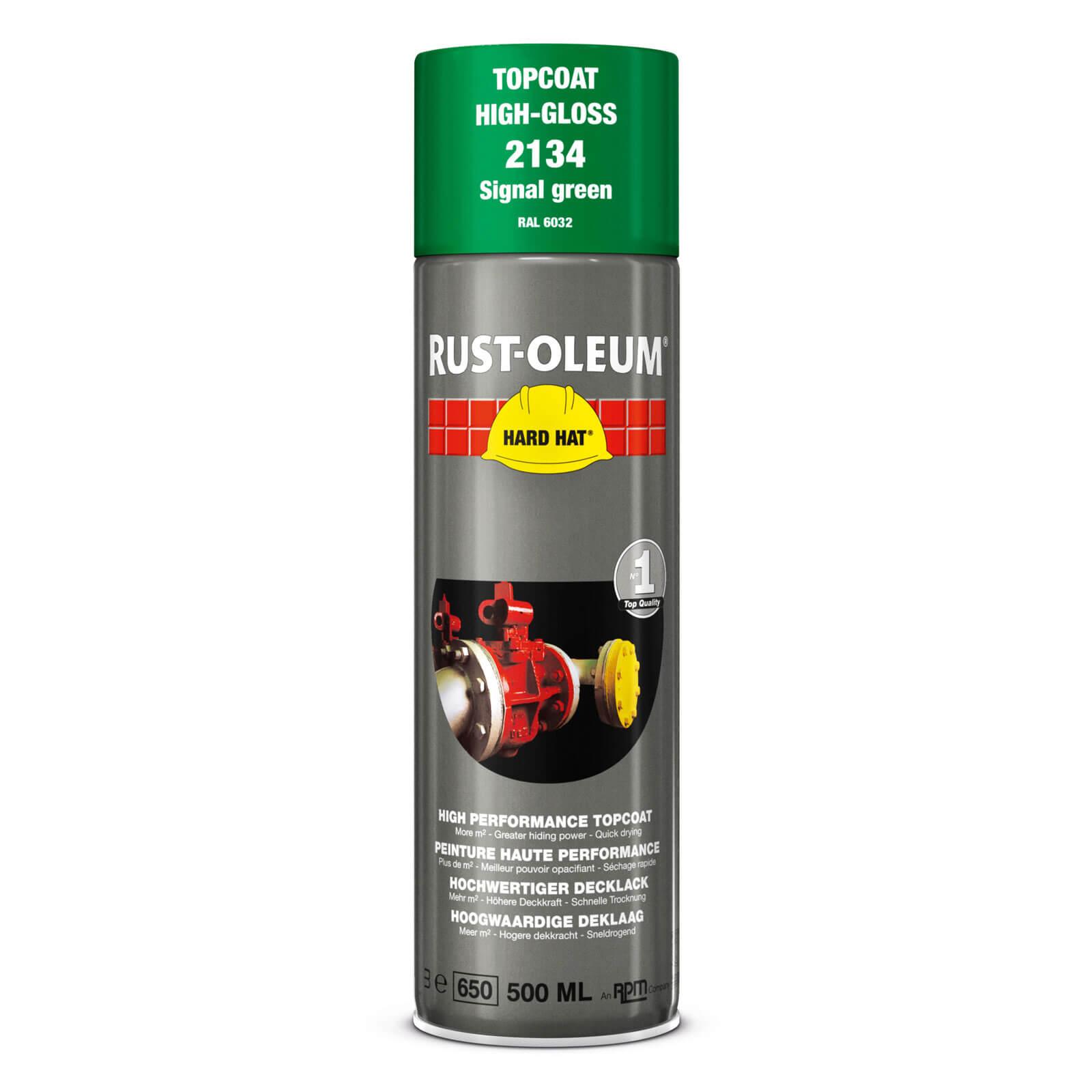 Rust Oleum Hard Hat Metal Spray Paint Signal Green 500ml