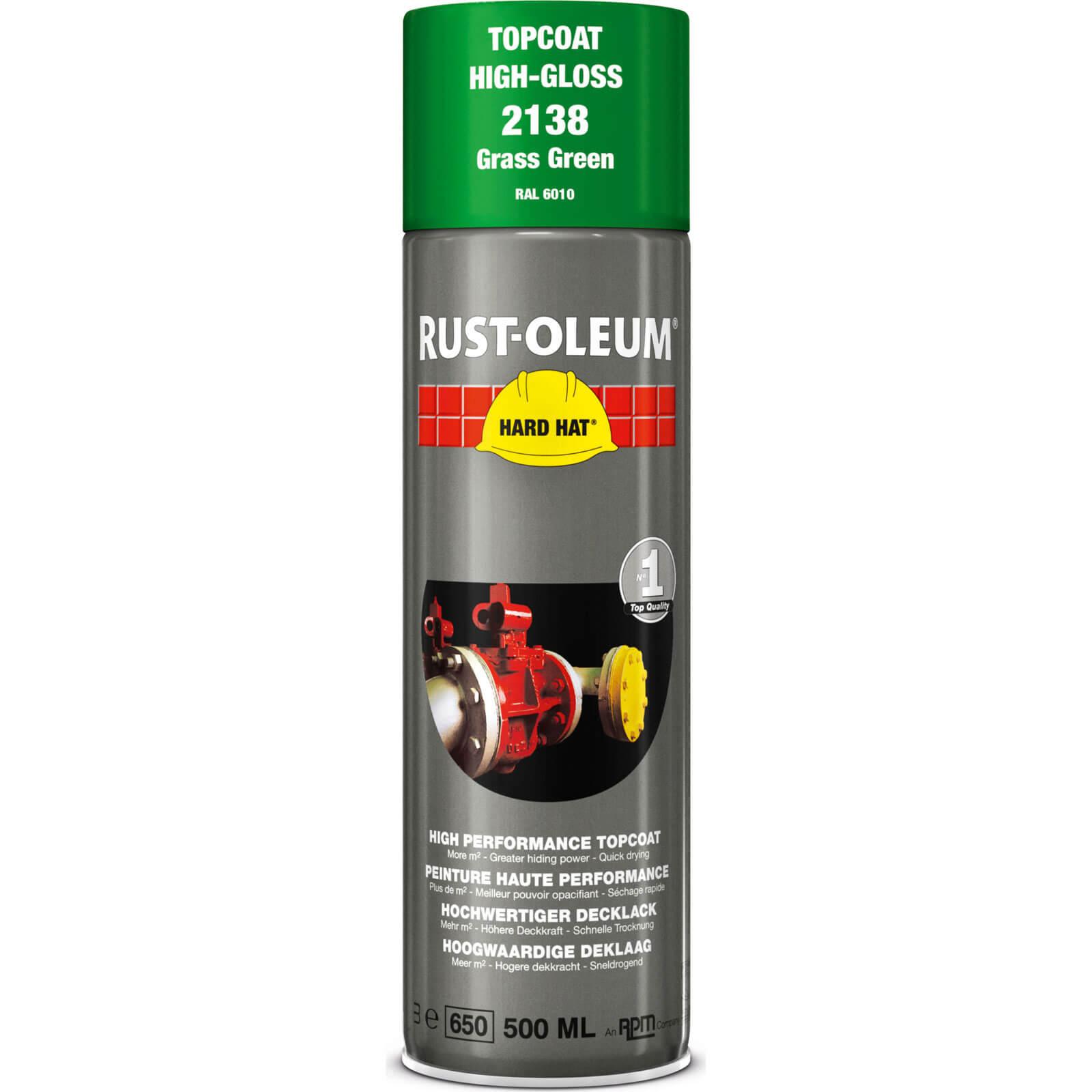 Rust Oleum Hard Hat Metal Spray Paint Grass Green 500ml