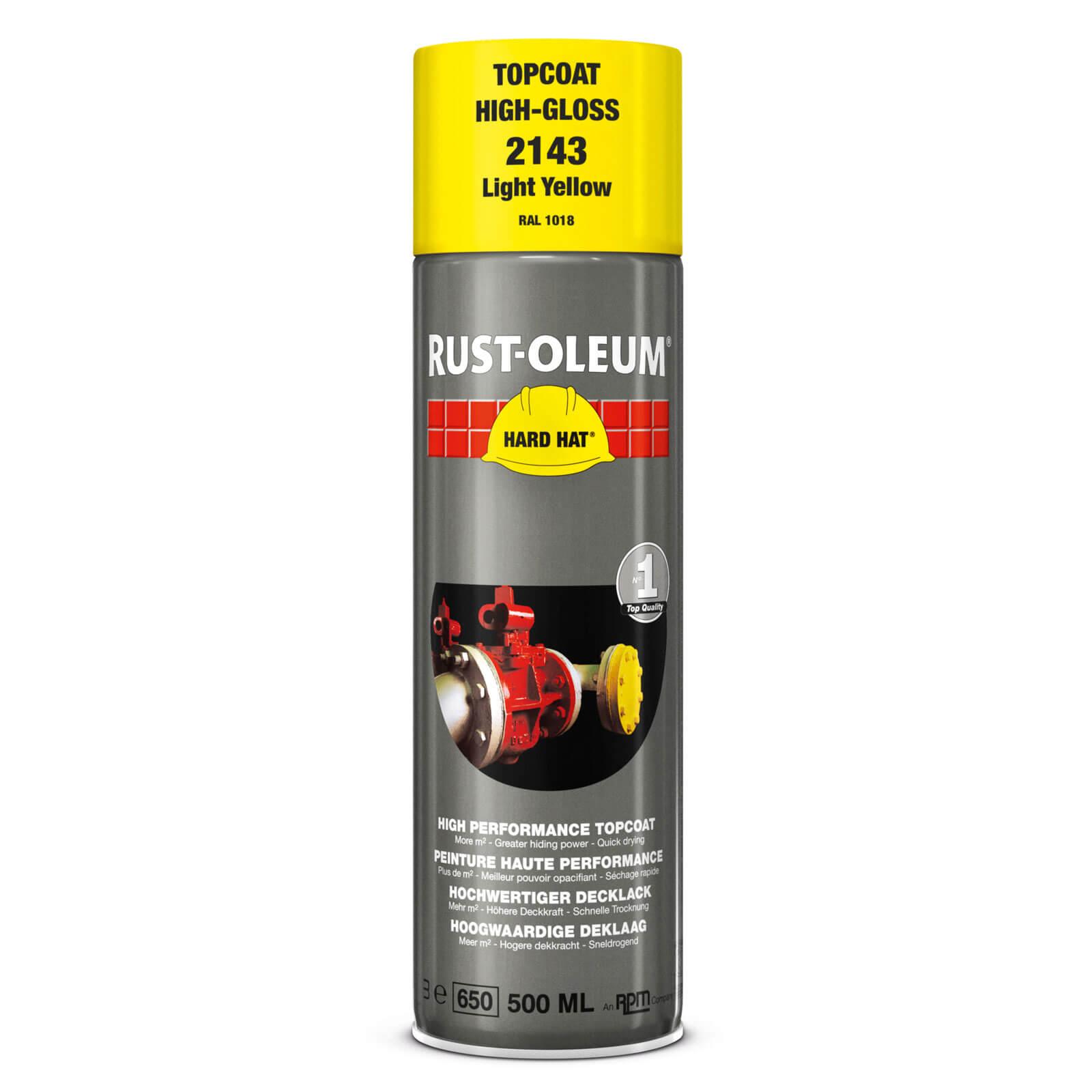 Rust Oleum Hard Hat Metal Spray Paint Light Yellow 500ml