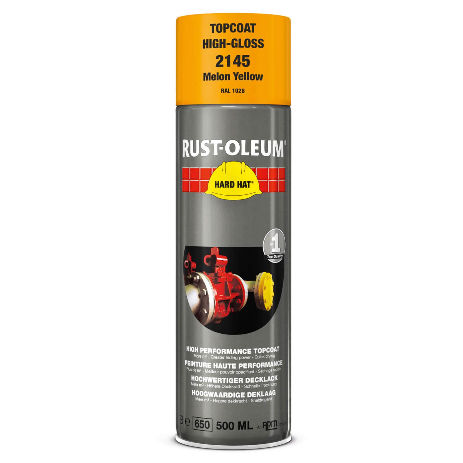 Rust Oleum Hard Hat Metal Spray Paint Traffic Yellow 500ml