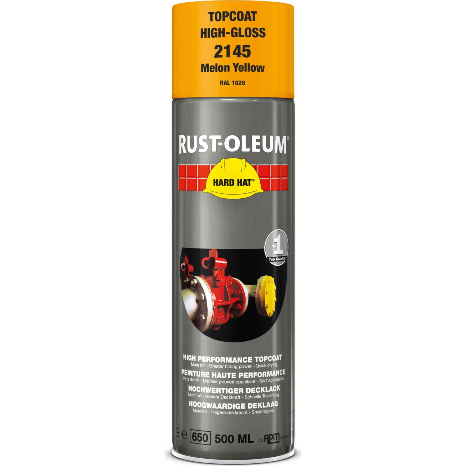 Rust Oleum Hard Hat Metal Spray Paint Melon Yellow 500ml